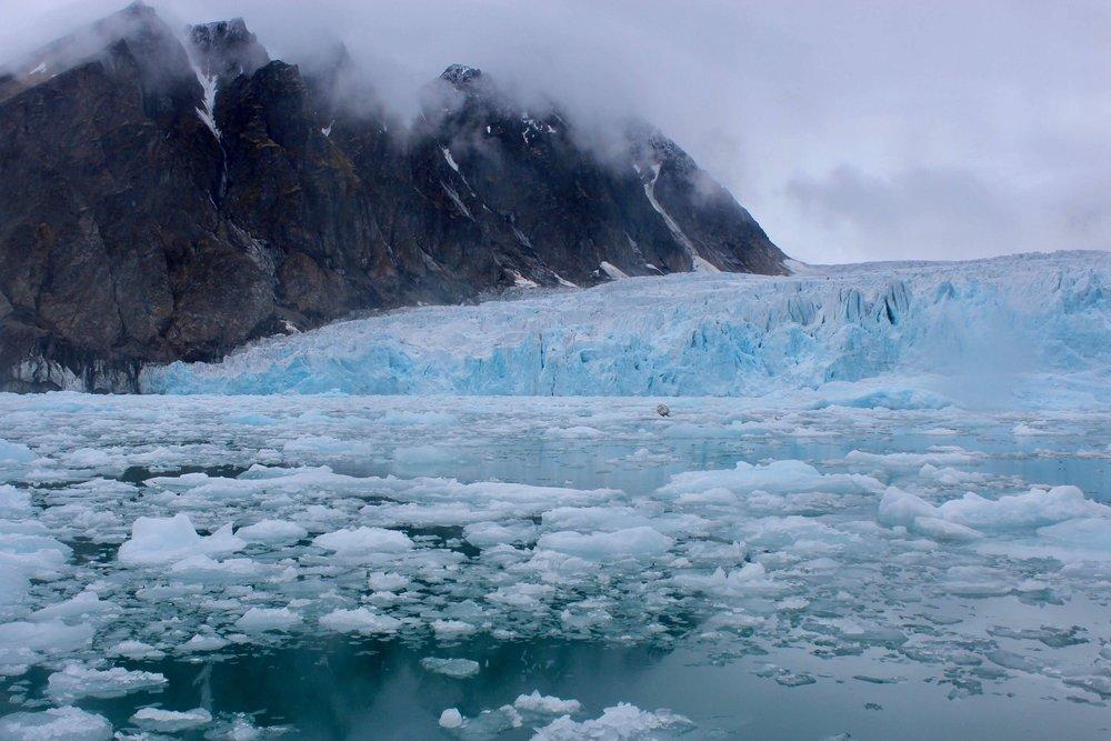 Glacier near Svalbad, Norway (Izzy Rousmaniere)