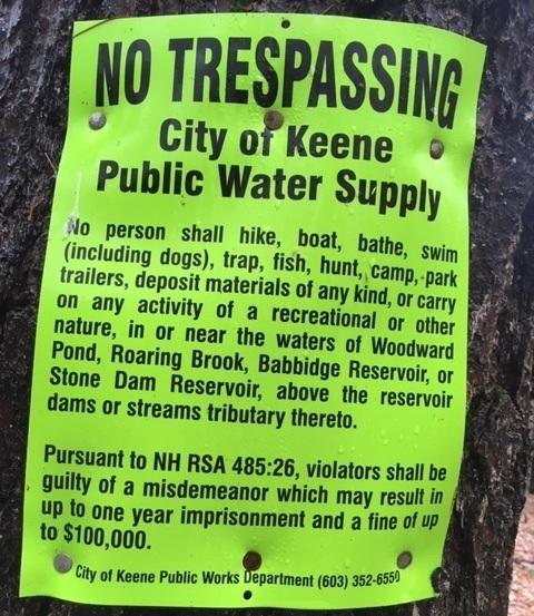 Reservoir rules, Roxbury New Hampshire