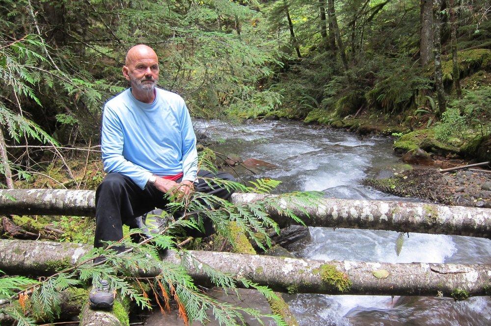 Woodland stream, Mt. Hood, Ore. (Gene Roghair)