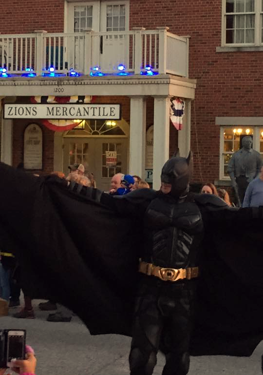 Batman at Nauvoo Pumpkin Walk