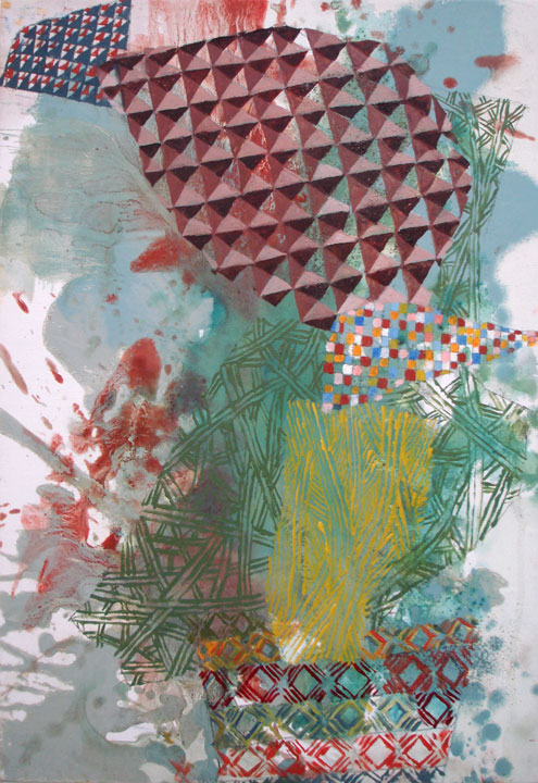 Untitled (214-08), 2008, Oil and gouache on canvas, 14 x 10 in.