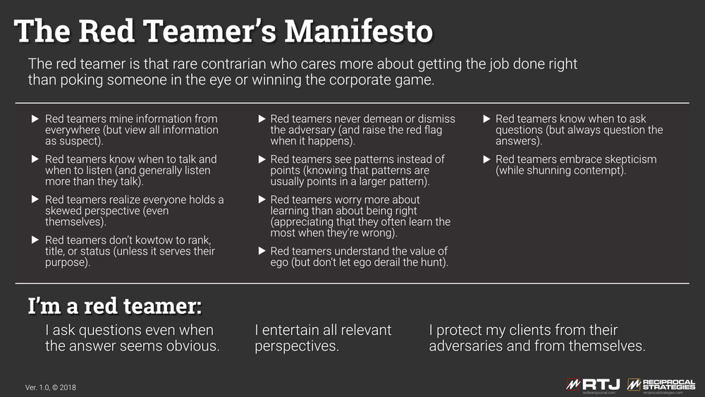 Red Team Manifesto (see text on page)
