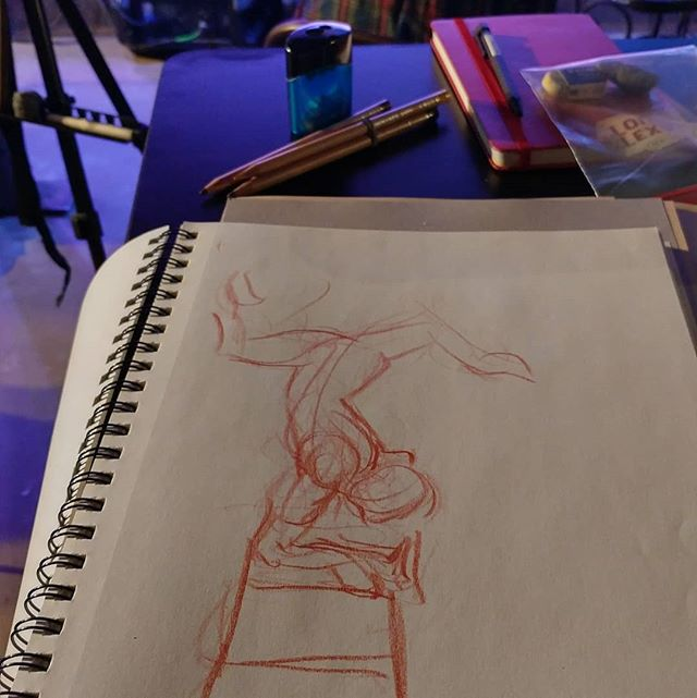 Aerialist figure drawing #austin #drsketchy needless to say these are short poses