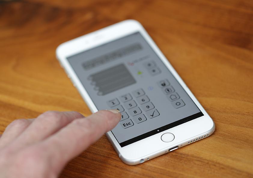 Auch per Smartphone immer alles unter Kontrolle.