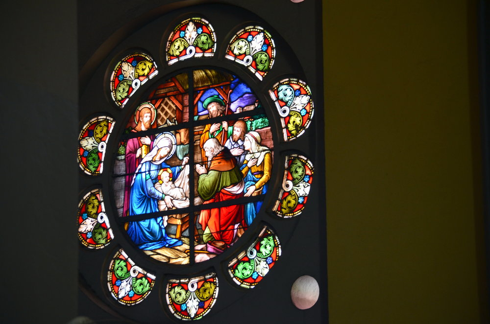 Stained glass in St. Joseph's (AF036)