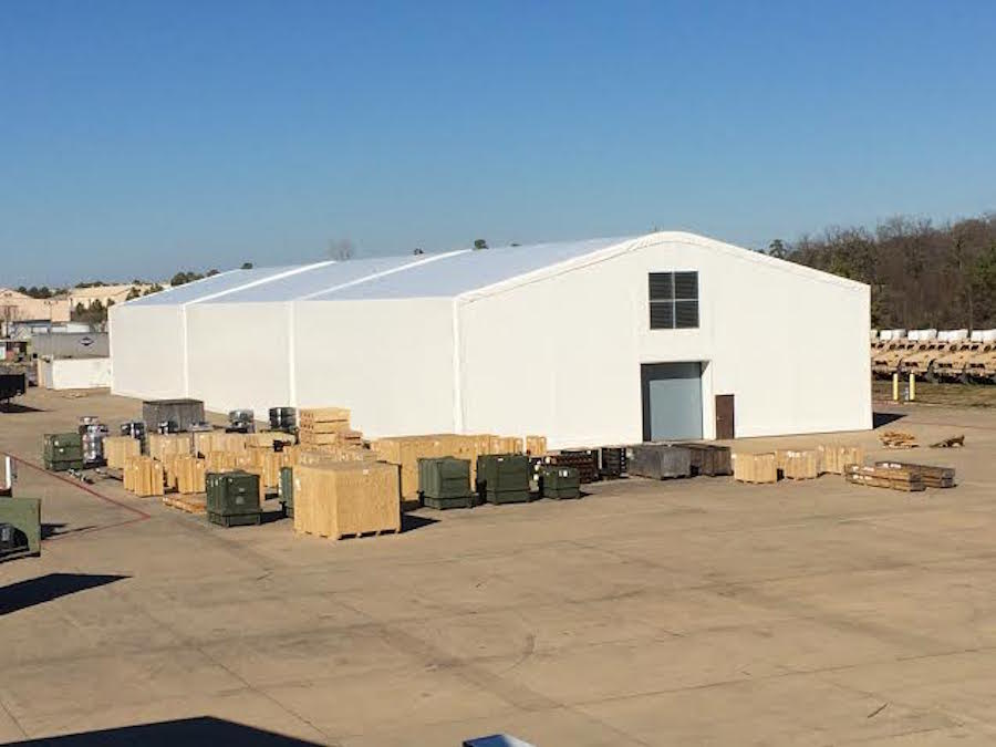 When the Defense Logistics Agency needed help, Shelter Structures responded with two fabric warehouses. One warehouse is 70' by 225', and the other is 70' by 125'. Both warehouses include 12' by 12' overhead doors, two personnel doors, ventilation systems, and T-5 Lightning packages, along with other features.  Read more…