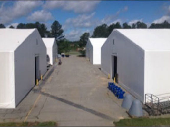 When the Air Force needed a warehouse to protect millions of dollars in materials for repairing large cargo aircraft, they reached out to Shelter Structures. Shelter Structures responded by designing and installing 4 identical warehouses to ensure protection of materials and personnel. As always, the shelters were engineered to Risk Category II standards, and include many special features.  Read more…