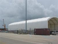 Cargo Scanning Facility Port Everglades Ft. Lauderdale, FL. 50'W x 100'L x 18'H Sidewall