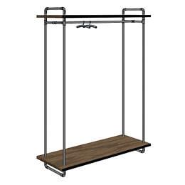 2-Rohrfabrik-Kleidergestell-Rohr-Wasserrohr-mit-Holz-Ablage-Tablar-moebeldesign-ladenbau-inneneinrichtung-schaufenster-modeschau-concept-interior-design.jpg