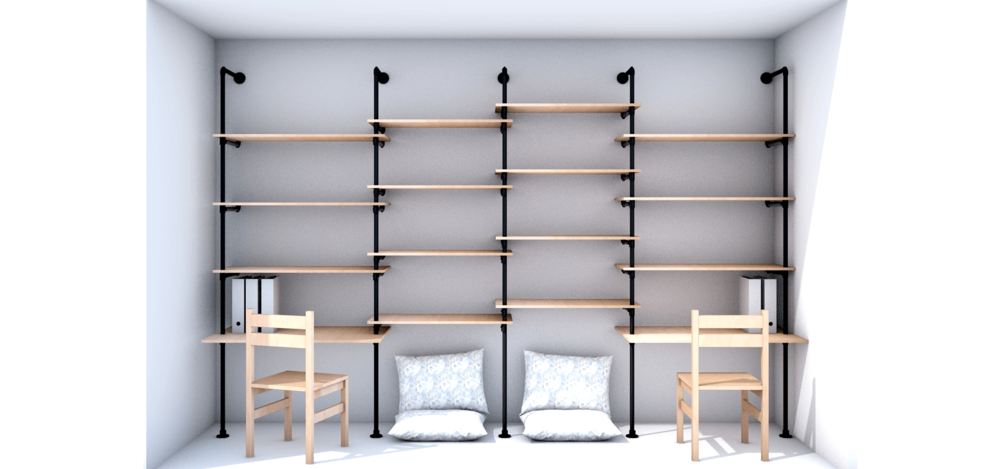 wandregal holz wand edelstahlo hitoiro wandmontage holz. Black Bedroom Furniture Sets. Home Design Ideas