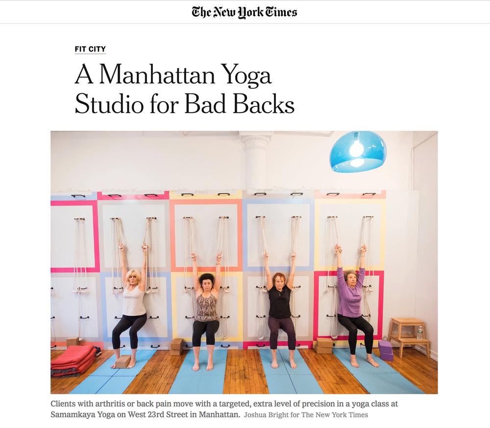 New York Times, A Manhattan Studio for Bad Backs