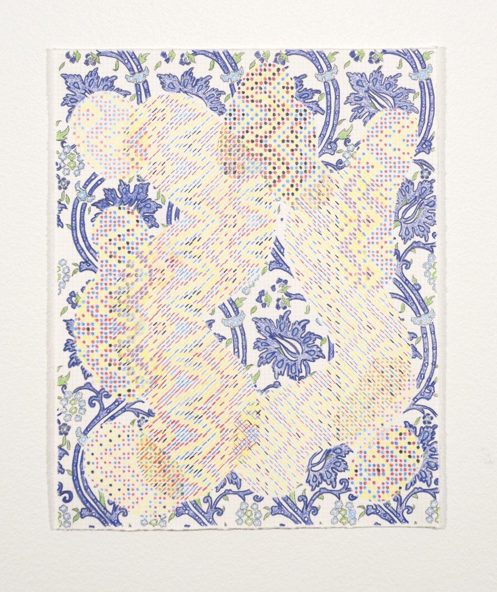 Mark Barrow & Sarah Parke  Origin , 2019 Colored Pencil on Paper 10 × 8 inches (25.40 × 20.32 cm)