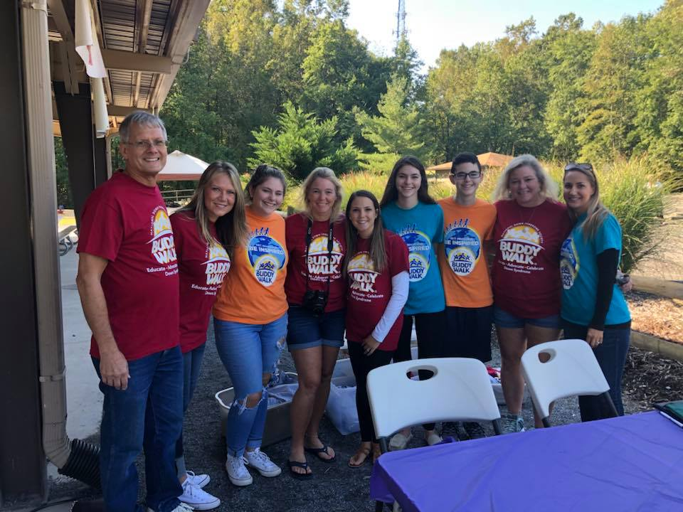 Volunteers and participants from the 2018 Buddy Walk