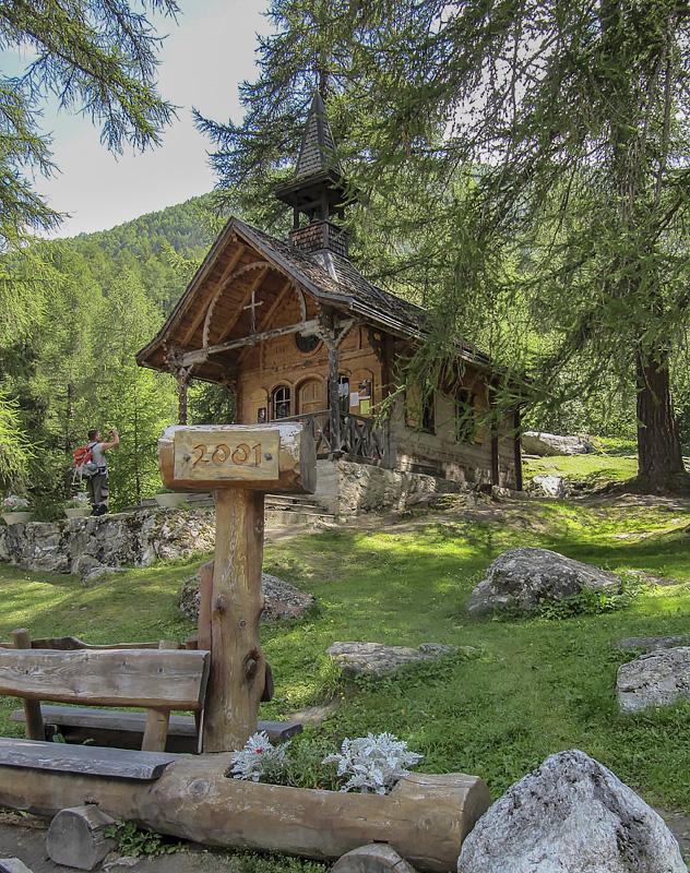 Kapelle Planchouet auf der Bisse de Vex