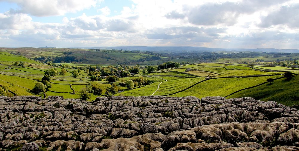 From the top of Malham Cove