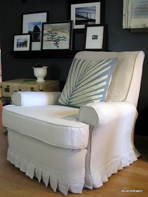 Outstanding Recliner Slipcover Tutorial Blue Roof Cabin Creativecarmelina Interior Chair Design Creativecarmelinacom