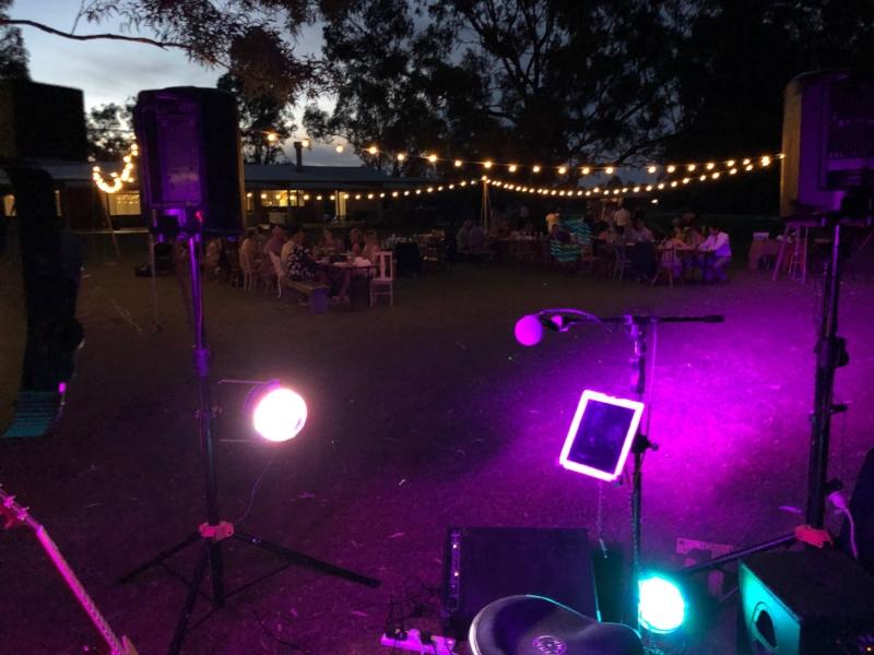 Ulupna wedding entertainment setup at Redgum River Resort - just beautiful!