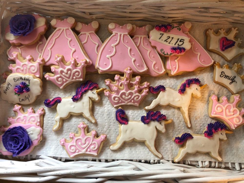 Princess Parties   Cookies for a little princess!