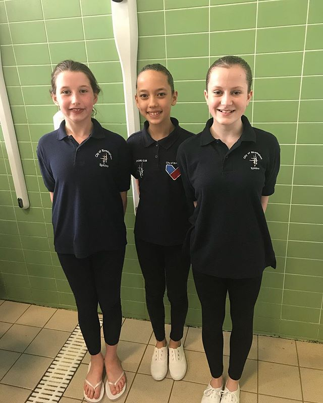 Well done too our three novice swimmers... from the left summer - 1st(skill 0)  Emily 1st (skill 1) and Olivia 2nd (skill 1)  Well done girls🎊⭐️