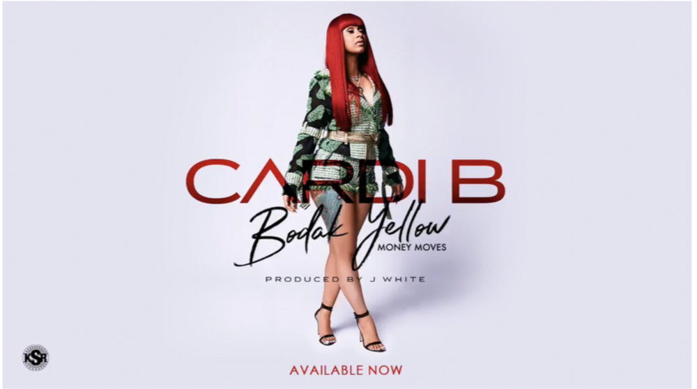 Cardi B in Kim Shui for the cover of Bodak Yellow -