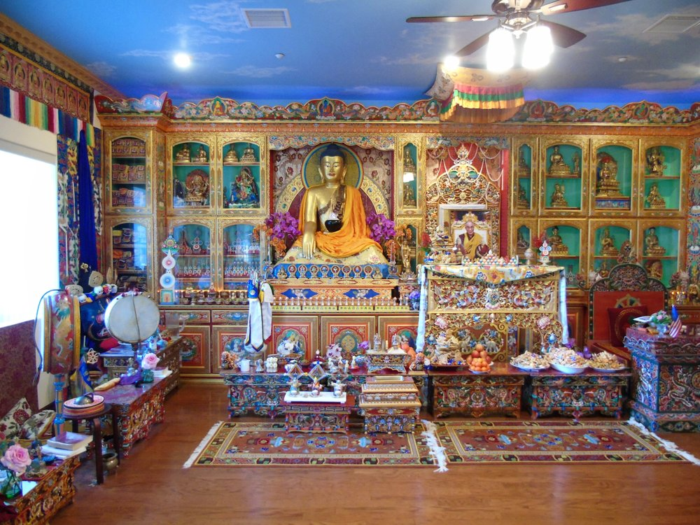 SHRINE ROOM  We are very grateful to have had many high lamas give empowerments, teachings, meditations and their blessings in our shrineroom and we can all look forward to more to come.