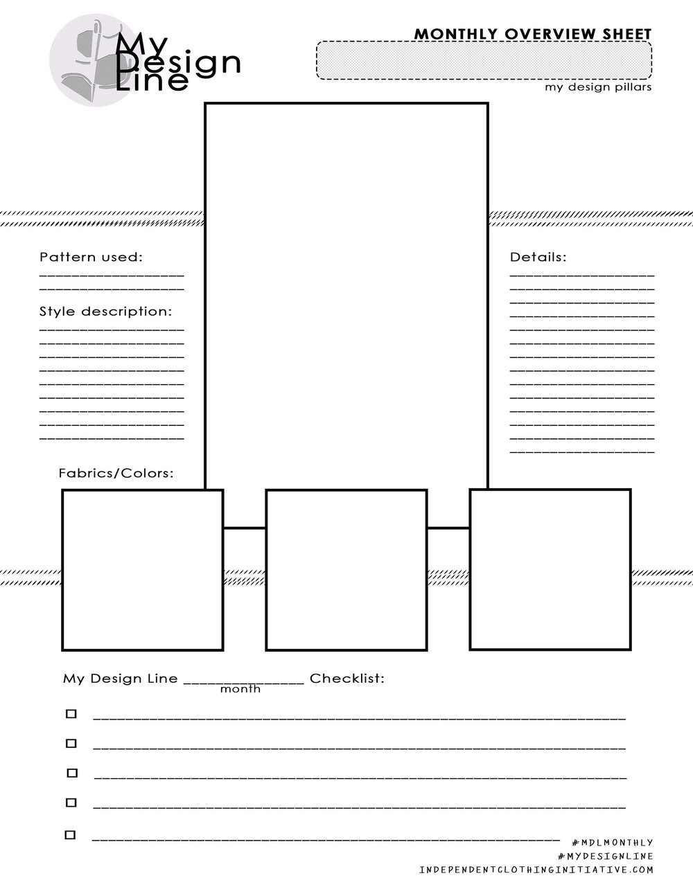 Plan Each Month Out In Detail! - You can be as specific here as you want to be. The idea is map out how this garment will fit into your design line for the year, and then to get to work!