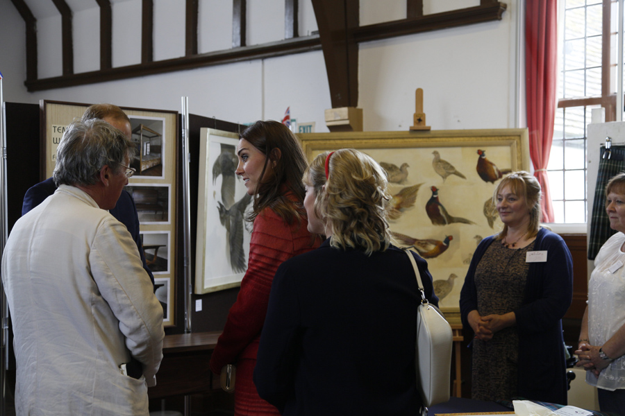 Duke and Duchess of Cambridge talking with Jonathan Sainsbury