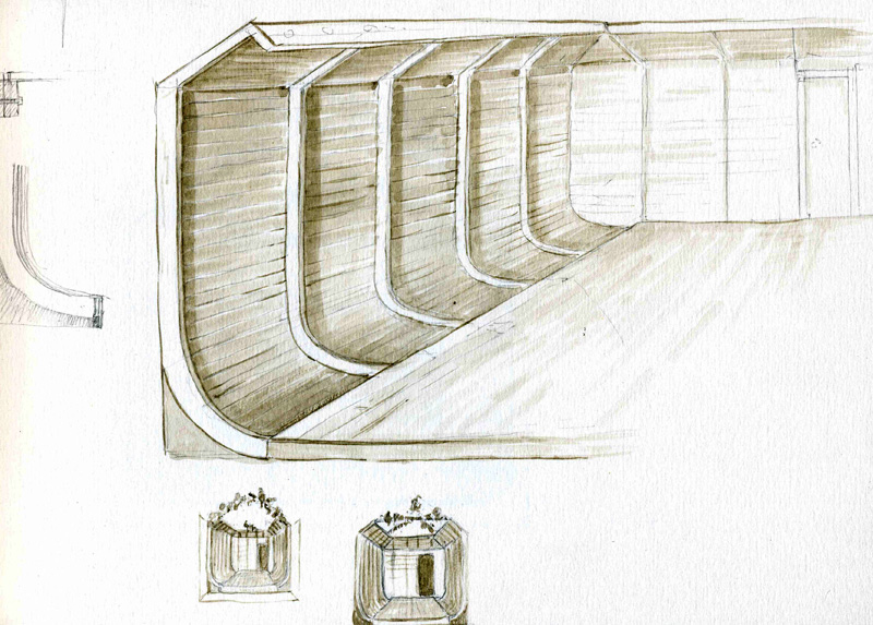 Jonathan Sainsbury at Countryfile live '16: sketch for Ark display stand