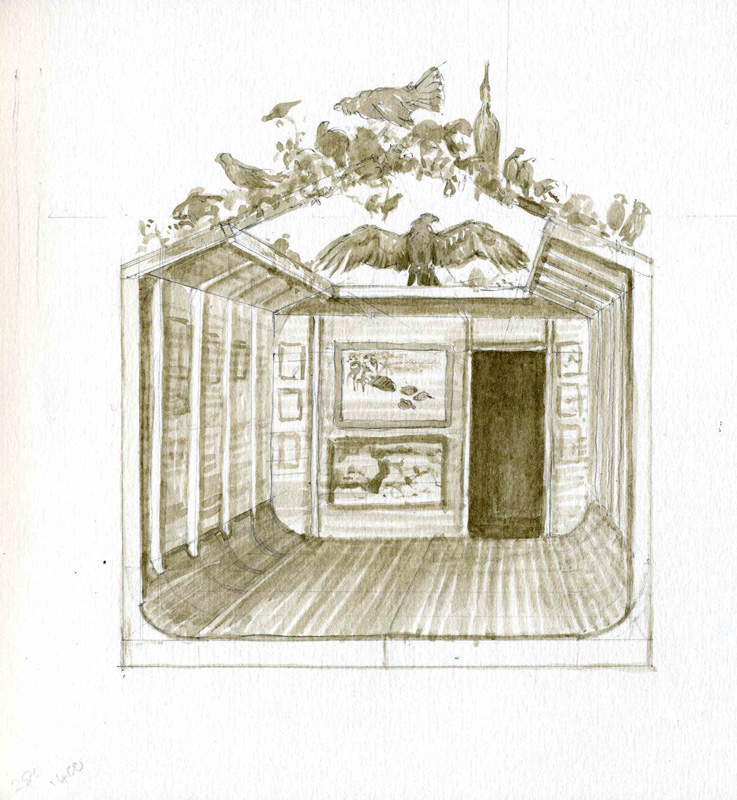 Jonathan Sainsbury sketch for Ark display space