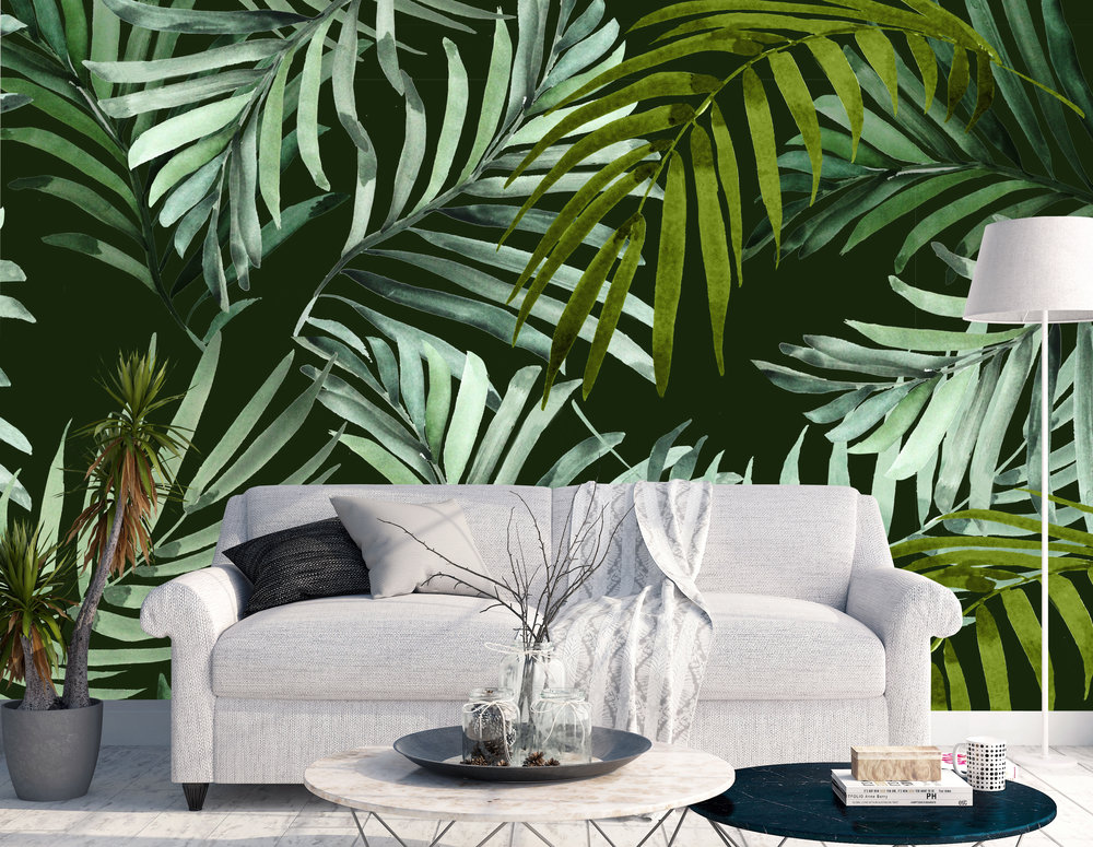 CUSTOM WALLPAPER MURAL // Palms