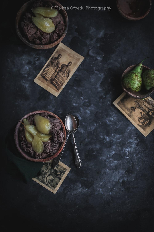 Chai Pears with Chocolate Ice Cream and warm chocolate souce (4 of 13).jpg