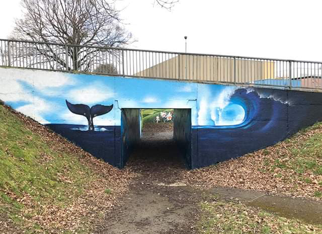 Graffiti Art Wave by Cardiff Graffiti Artist