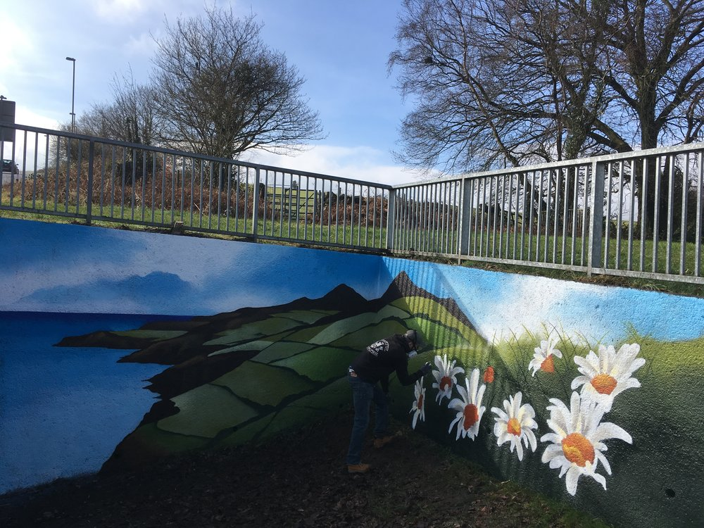 Valley Mural by Cardiff Graffiti Artist