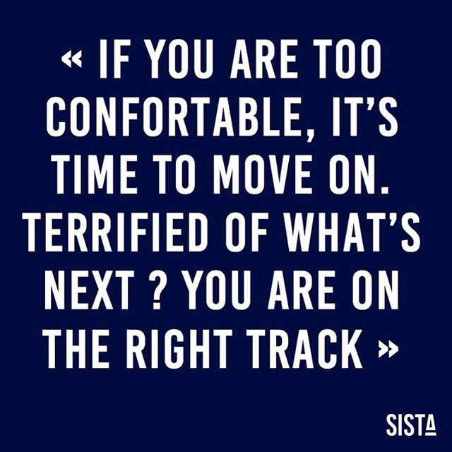 Terrified of what's next? You are on the #right track! Merci @oprah pour l'inspiration ! 🙏🏽 Bon dimanche les #SISTA 💙 . . . #sista #wearesista #genderdiversity #fintech #insurtech #sorority #women #entrepreneur #entrepreneurlifestyle #business #bethechange #bethechangeyouwanttosee #life #entrepreneure #sistainspiration #inspiration
