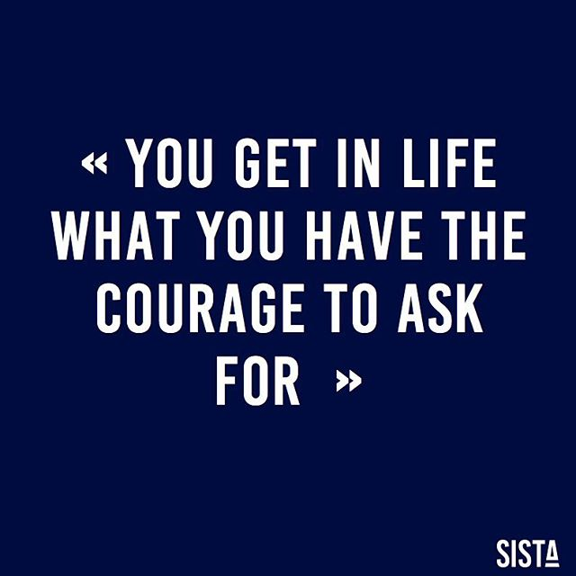 You get in life what you have the courage to ask for! @oprah 🙏🏽 GO #SISTA, GO! Sky is the limit, if you ask for it... 💪🏽 . . . #sista #wearesista #genderdiversity #sorority #women #entrepreneur #entrepreneurlifestyle #business #bethechange #bethechangeyouwanttosee #life #entrepreneure #sistainspiration #inspiration #courage #skyisthelimit