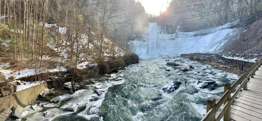 Taughannock Falls Winter Scene