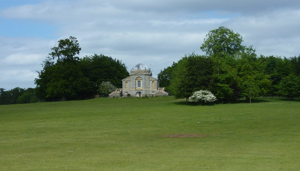 The Temple, as seen from the Park, with the ha-ha in the foreground.JPG