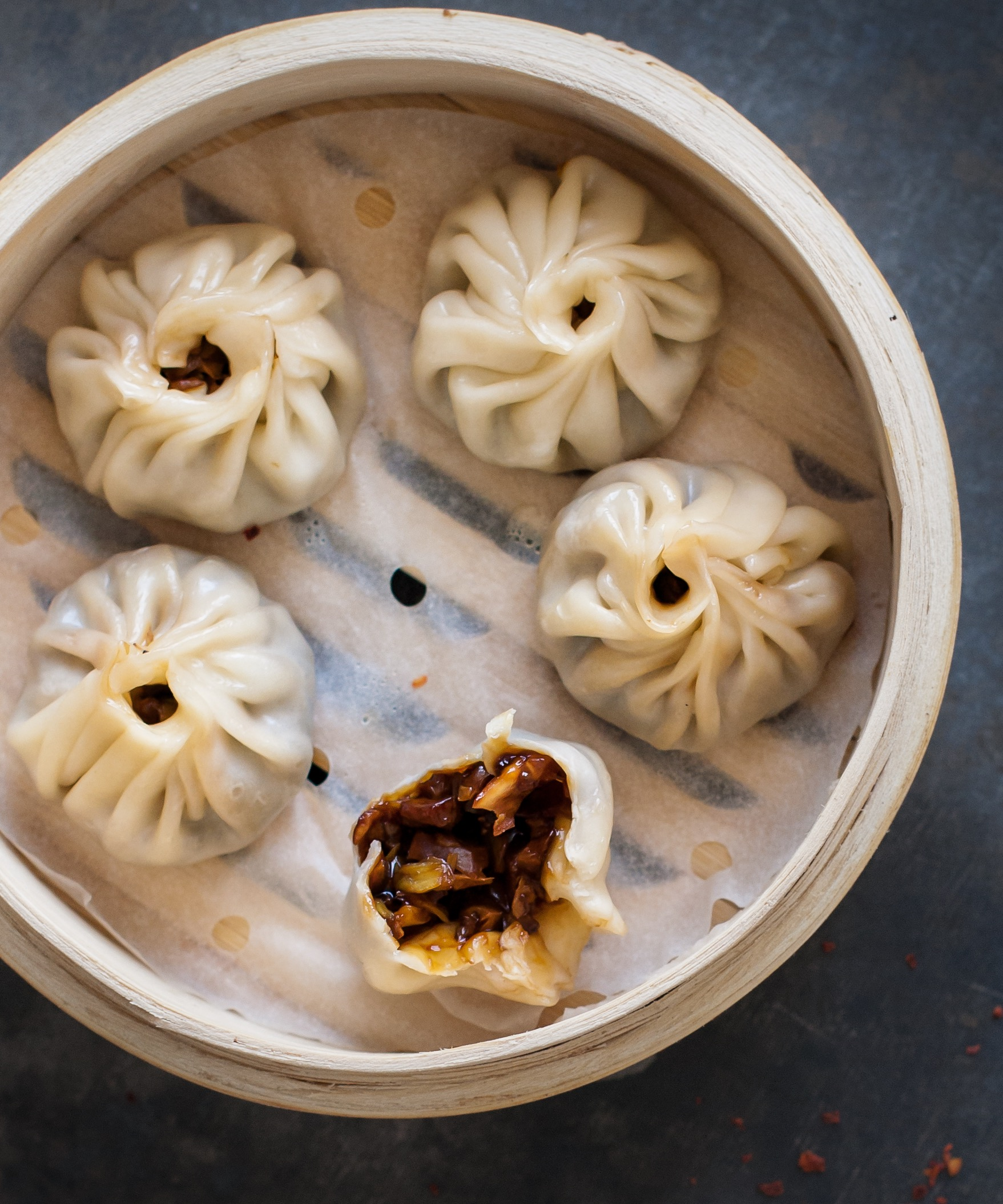 Shiitake and Pickled Mustard Greens Dumplings