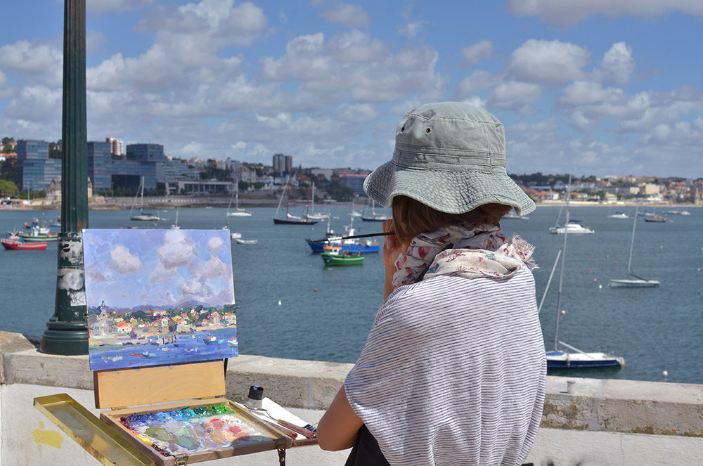 Plein Air Oil Painting, Lena Rivo