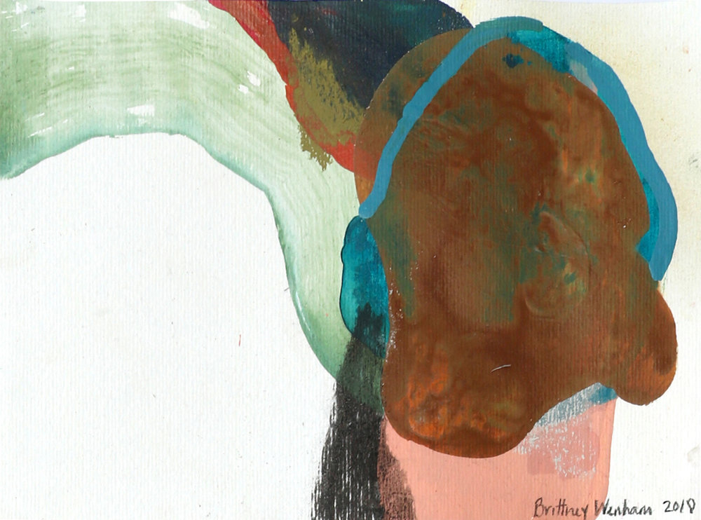 """WHY DO THE BIRDS KEEP SINGING #3    8.3"""" x 11.7"""", Acrylic, soft pastel, chalk and charcoal on paper, 2018"""