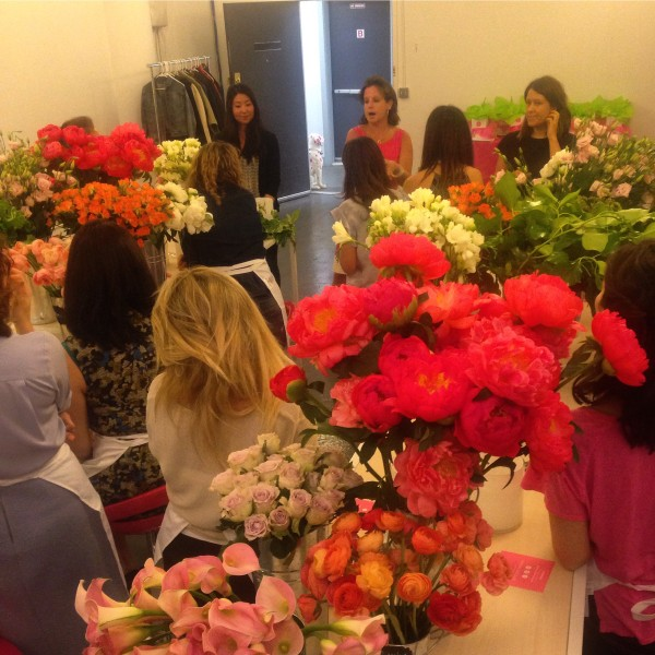 Owner and lead designer, Bronwen, teaching the ladies important tips and tricks!
