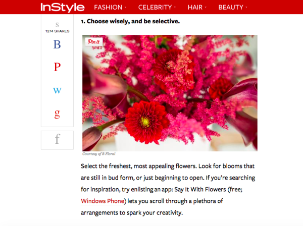A sneak peak of our article with InStyle: