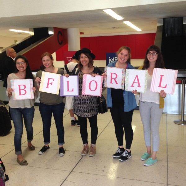 Half of the BFloral team arrives at LAX