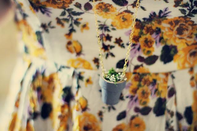 Flower Pot Necklace