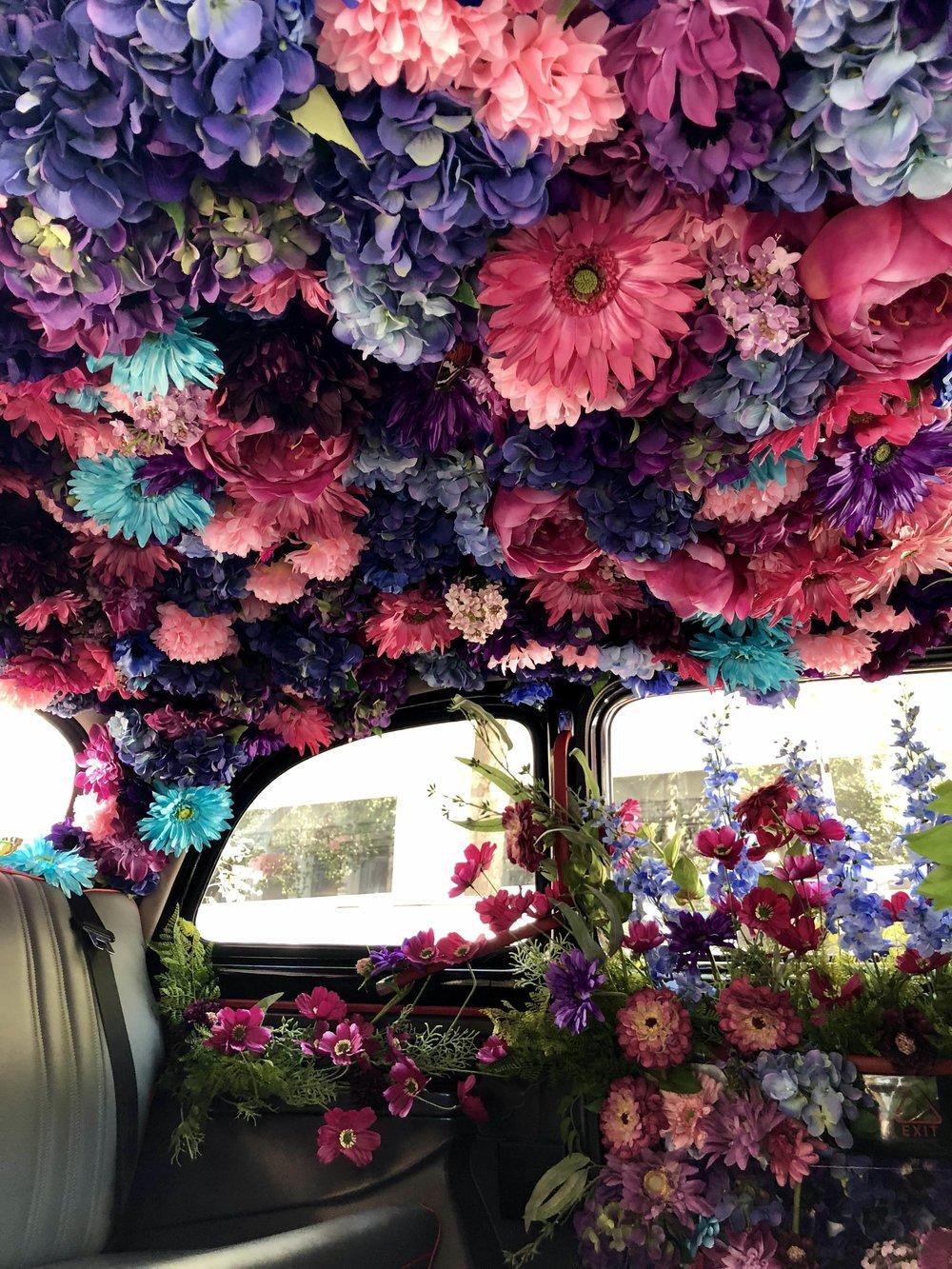 Ted Baker Activation Inside Cab- B Floral