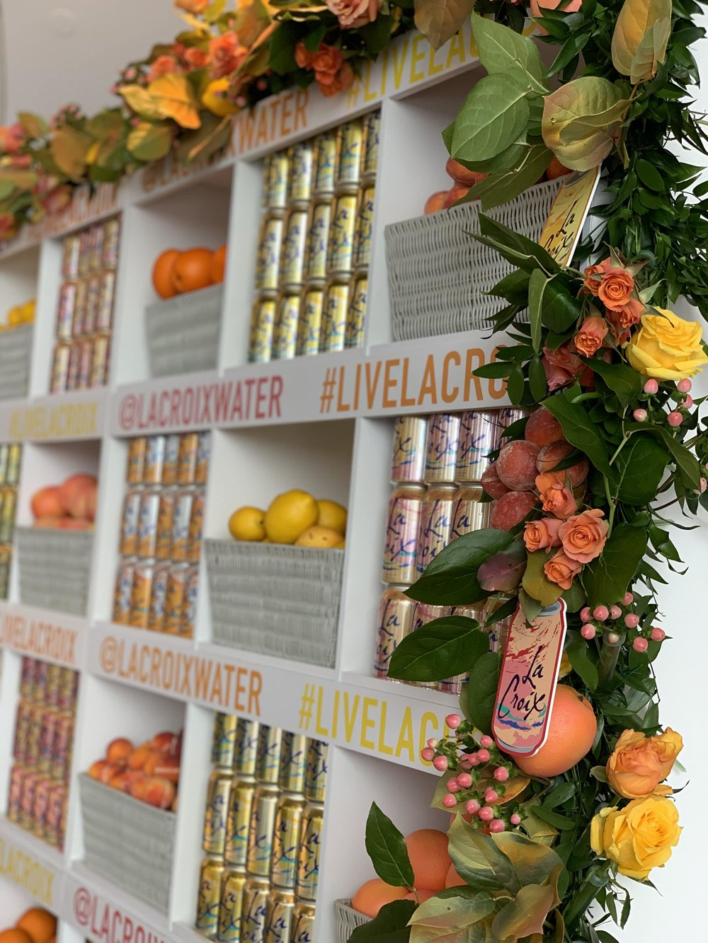 LaCroix Branded Installation Close-up- B Floral