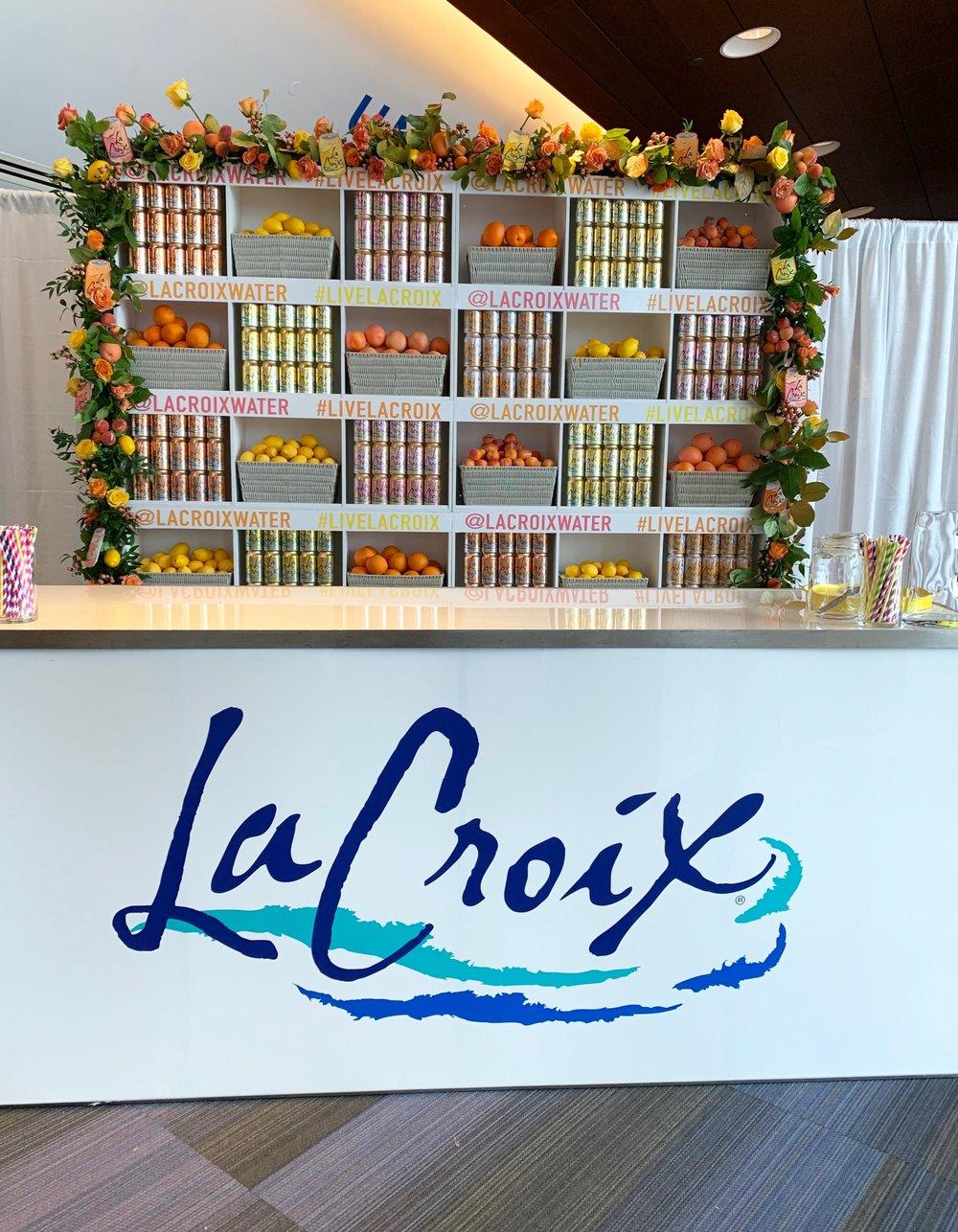 LaCroix Branded Back Bar Install- B Floral