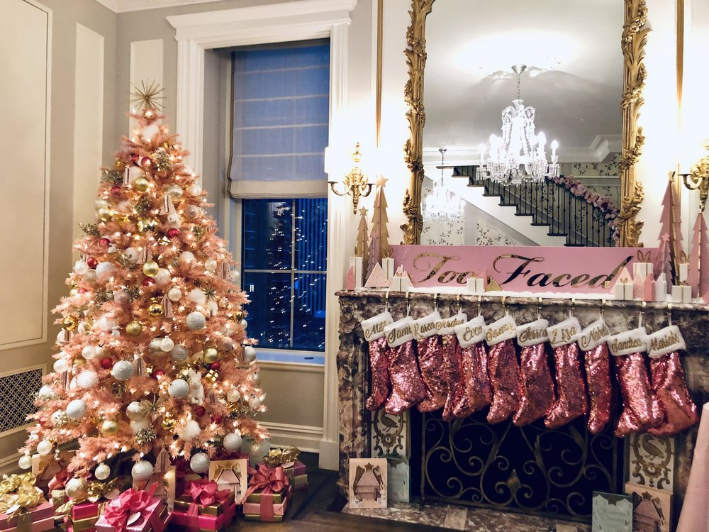 Too Faced Branded Christmas Tree- B Floral
