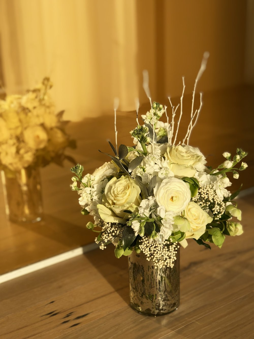 White And Cream Arrangements- B Floral