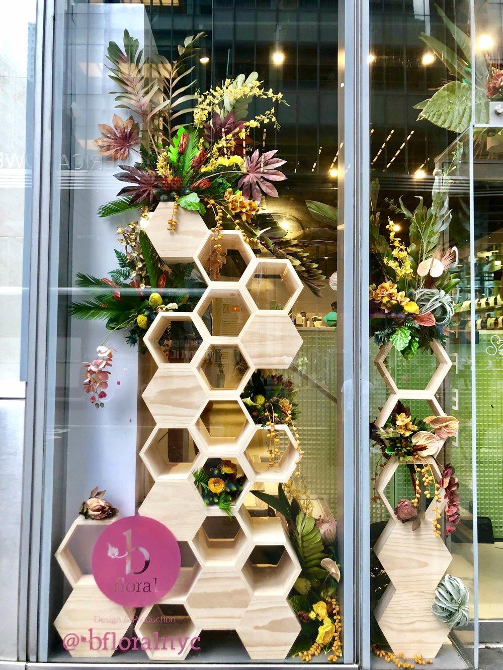 City of Saints Window Installation- B Floral